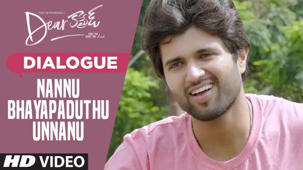 Nannu Bhayapaduthu Unnanu Dialogue Download, Dear Comrade Dialogues